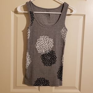 2/$15 Faded Glory Ribbed Floral Tank